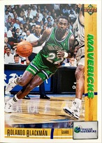 NBAカード 91-92UPPERDECK Rolando Blackman #154 MAVERICKS