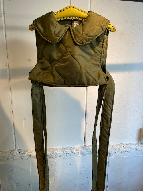 MIMAE military quilting ribbon vest