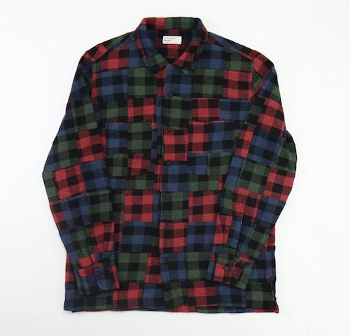 【Universal Works.】Garage Shirt Ⅱ in Multi Brushed Patchwork