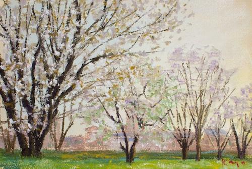 NO.97「桜と街・4月」