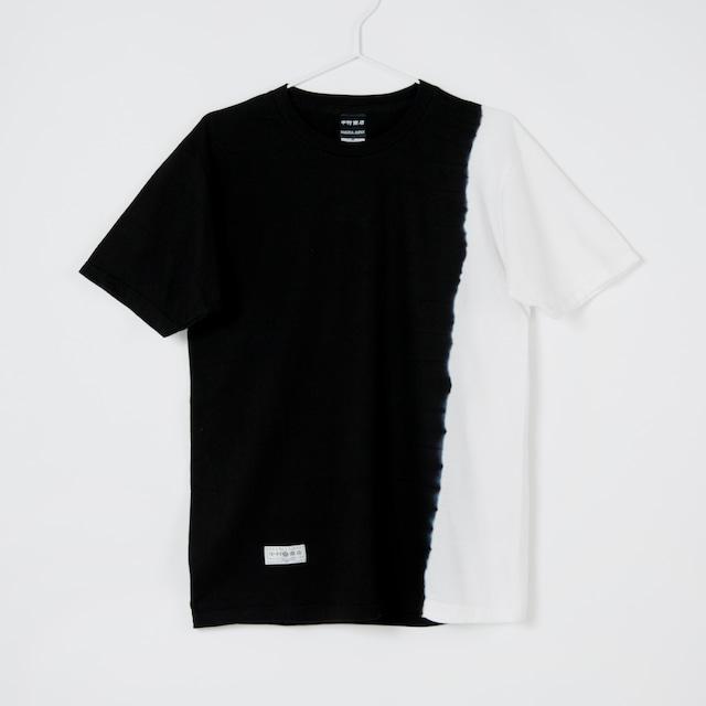 黒紋付染めTshirt 「黒半 -くろはん-(Black half)」3