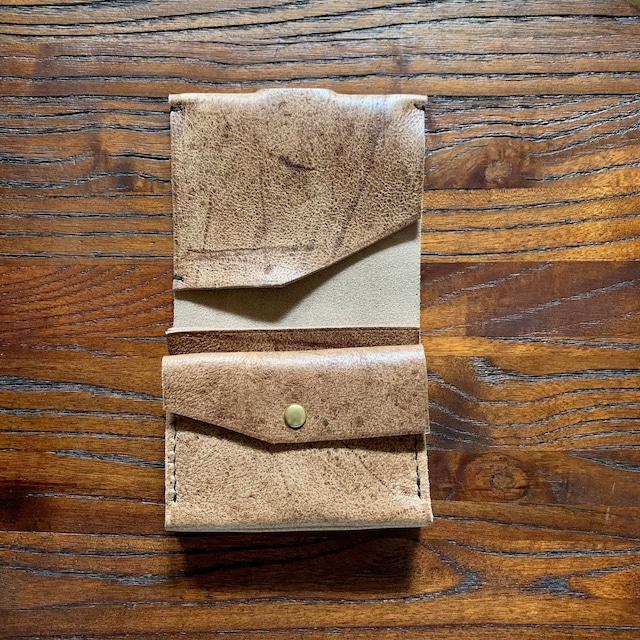 錫の手縫い財布 ichi kudu leather
