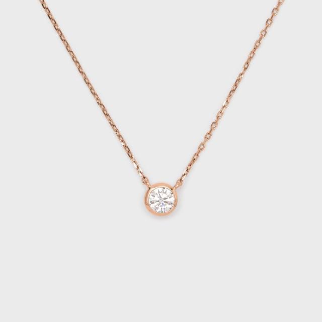 ENUOVE frutta Diamond Necklace K18PG(イノーヴェ フルッタ 0.3ct K18ピンクゴールド フクリン留めダイヤモンドネックレス アジャスターワカンチェーン)