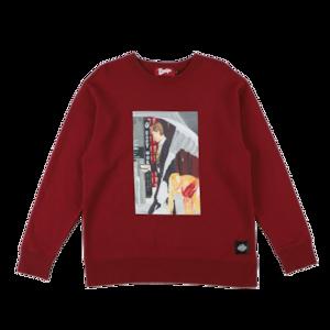 K'rooklyn × SUGI Collaboration Sweat -Wine Red-
