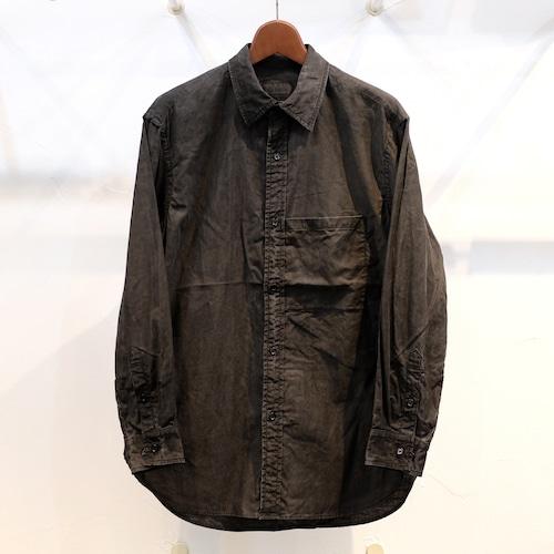 KUON(クオン) オーガニックコットン セミロングシャツ 墨染
