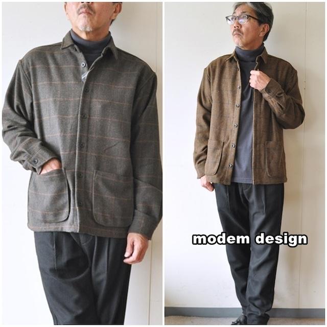 modemdesign  モデムデザイン ウールシャツジャケット 2006758 カバーオール ウールジャケット