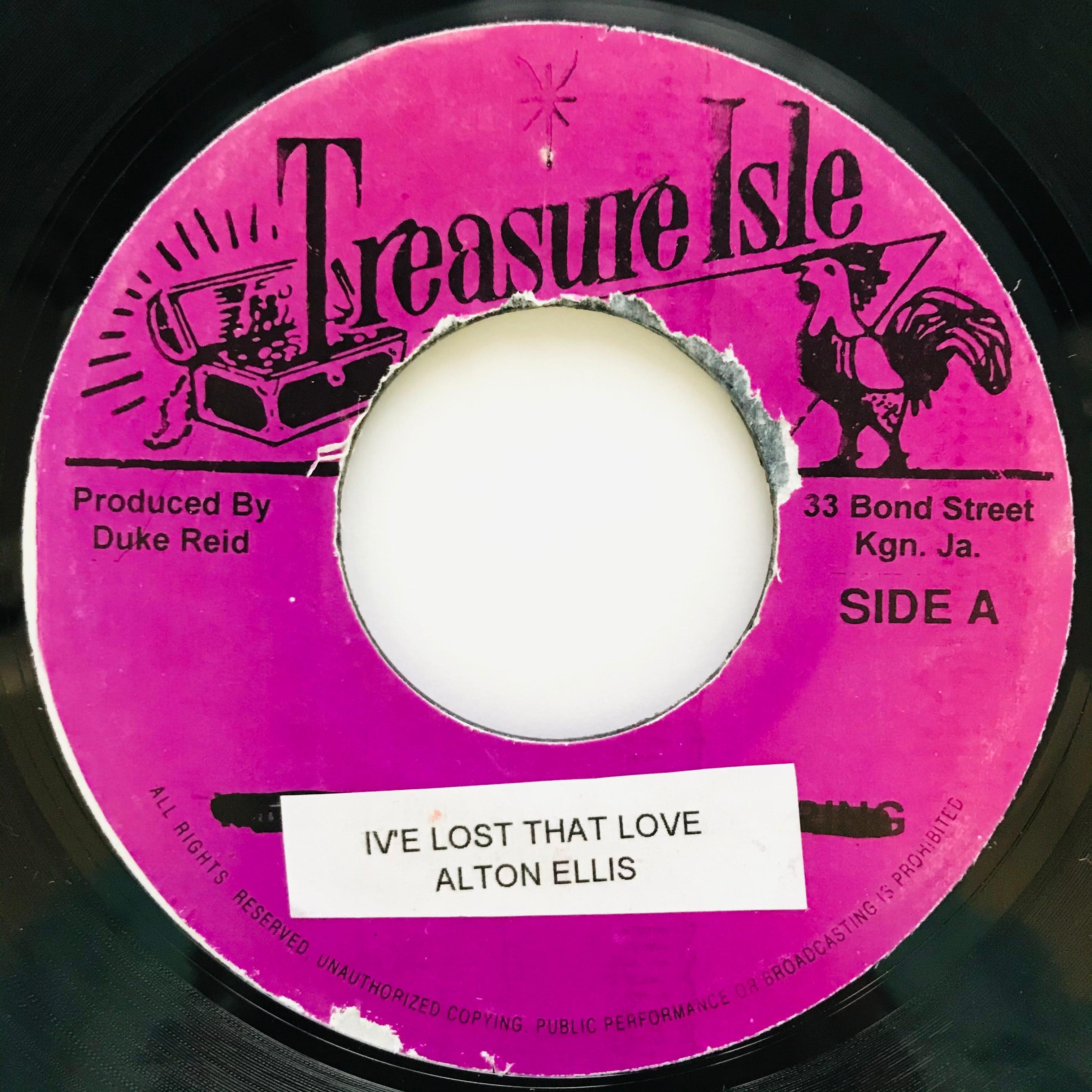 Alton Ellis - I've Lost That Love【7-11041】
