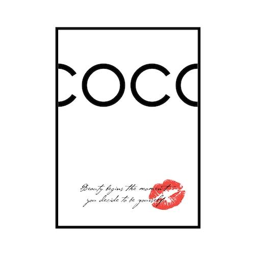 """COCO Beauty begins..."" White - COCOシリーズ [SD-000554] A4サイズ フレームセット"