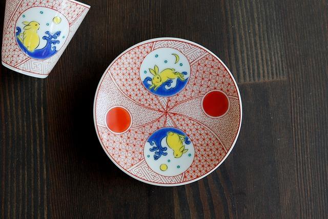 【SP3K19-14】『九谷縁起豆皿コレクション』『うさぎ〈USAGI〉』 *かわいい豆皿 コレクション アクセサリー入れ 小物入れ 絵皿 九谷焼
