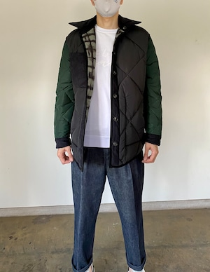 T_COAT   メンズ リバーシブルコート ブラック/グリーン