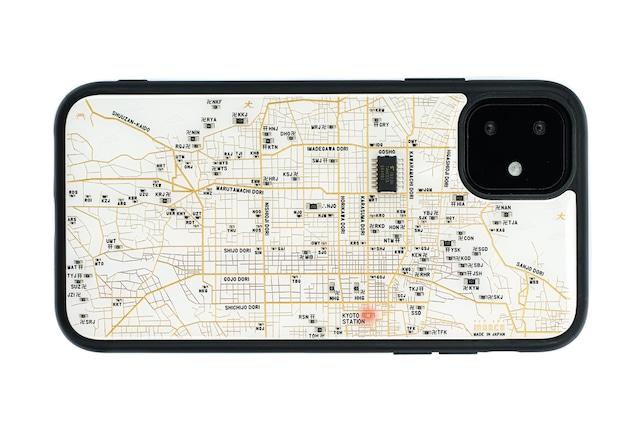 FLASH 京都回路地図 iPhone 11 ケース  白【東京回路線図A5クリアファイルをプレゼント】