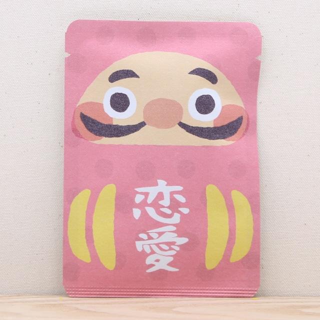 だるま茶(恋愛:ピンク)|ごあいさつ茶|玉露ティーバッグ1包入り