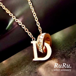 initial D necklace / 316L stainless