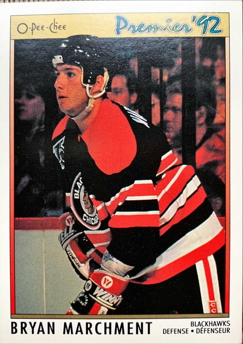 NHLカード 91-92 O-PEE-CHEE BRYAN MARCHMENT #099 BLACKHAWKS