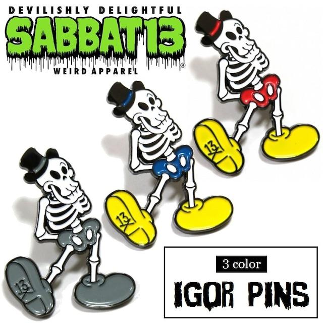 SABBAT13 / サバトサーティーン / サバト13「IGOR PINS」ピンバッジ ラベルピン ブローチ アクセサリー スカル ドクロ メンズ レディース ロック パンク ROCK PUNK バンド フェス ギフトラッピング無料 ステージ衣装 Rogia