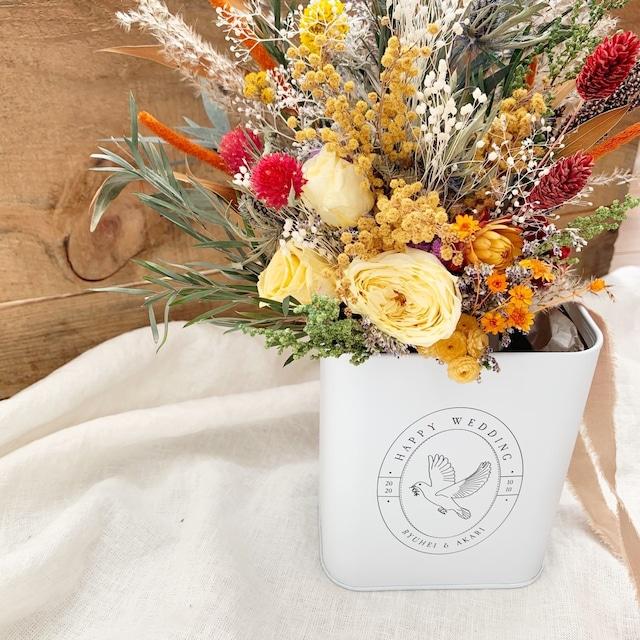 【結婚祝い】名入れ フラワーボックス