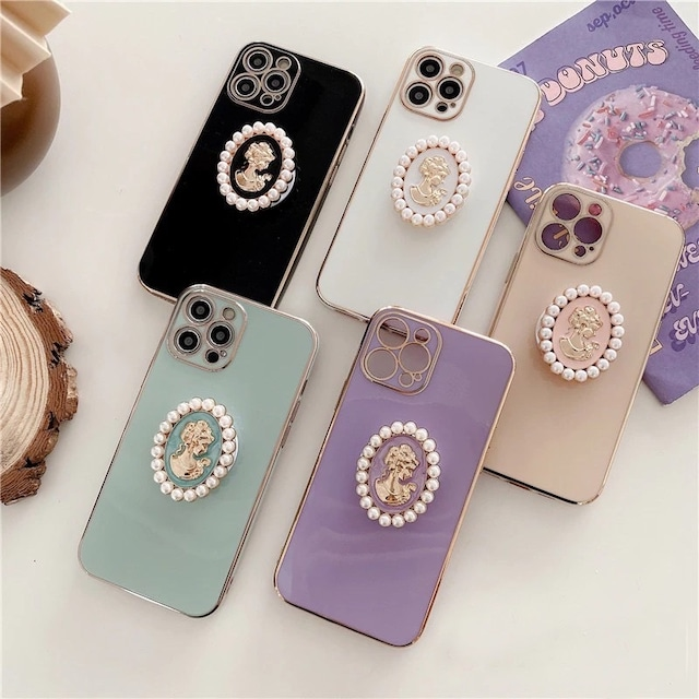 Pearl lady grip iphone case