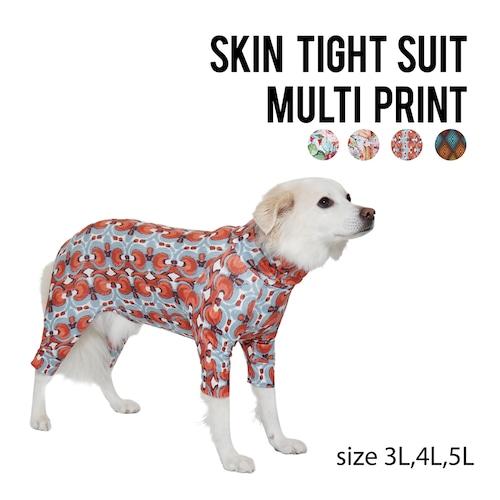 SKIN TIGHT SUIT MULTI PRINT(3L,4L,5L) スキンタイトスーツマルチプリント