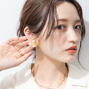 EARRINGS || 【通常商品】POTTERY STYLE FLOWER EARRINGS || 1 PAIR || PINK || FCF256
