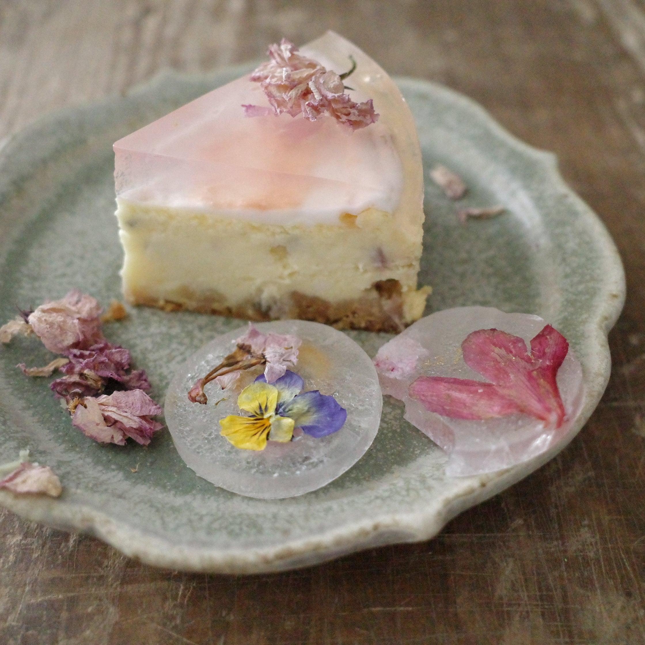 【母の日ギフト】桜のボタニカルチーズケーキ・琥珀糖のセット