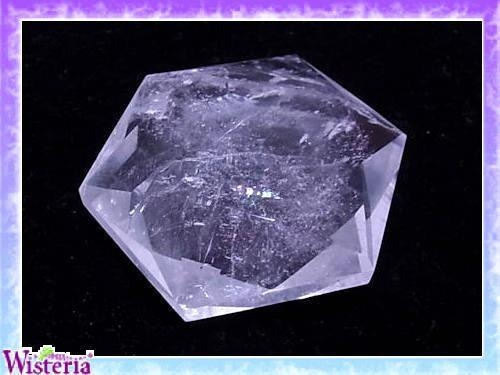 水晶 六芒星(hexagram) 直径66mm×厚み19mm