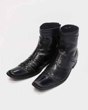 design  leather heel boots