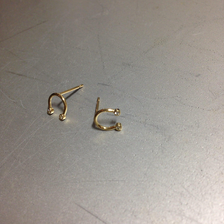 K18diamond◇MINI*earring/馬蹄