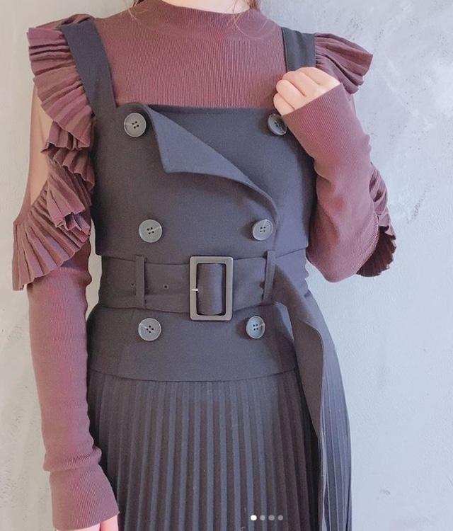 SNIDEL トレンチジャンパースカート