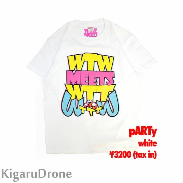 WTW x WTT x TTT コラボ 限定Tシャツ pARTyタイプ ホワイト