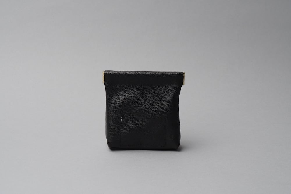 ワンタッチ・コインケース ■ブラック・ナチュラル■ - 画像2