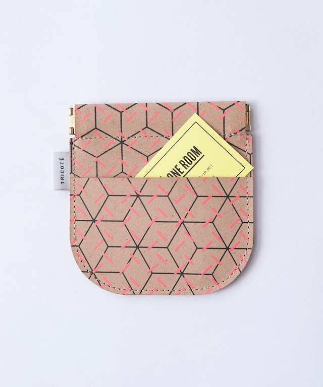 【TRICOTÉ】RECYCLE LEATHE COIN CASE:ピンク