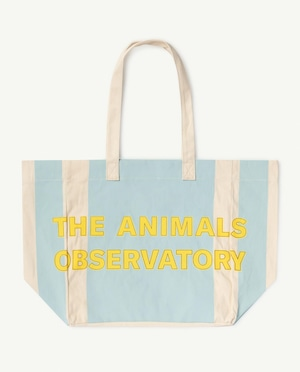 【21SS】the animals observatory ( TAO )  TWILL TOTE BAG ストライプ white blue