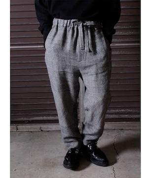 Linen Wool Knee Change Pants -gray <LSD-BJ3P2>