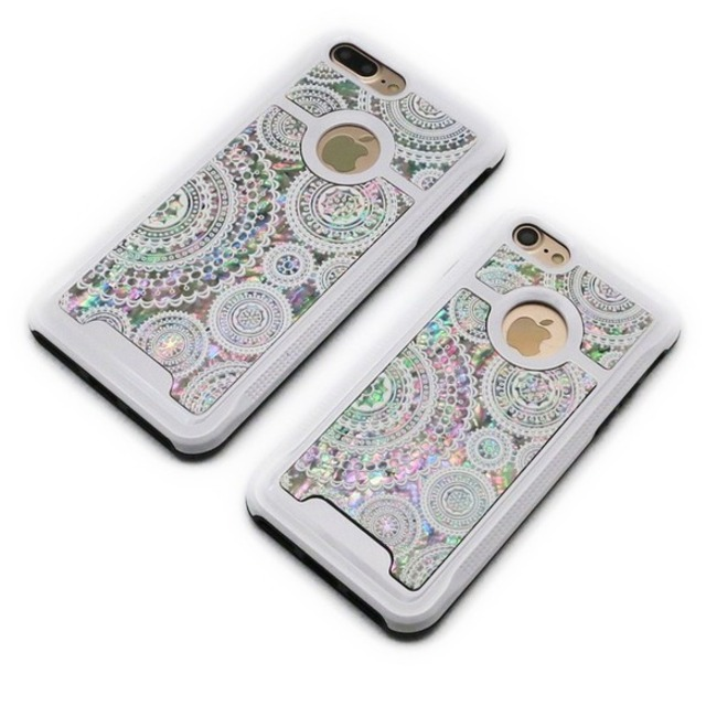 【SALE】りんごが見える iPhone7/7Plusケース 天然貝ケース(ホワイトレース・ホワイトタイプ)<螺鈿アート>