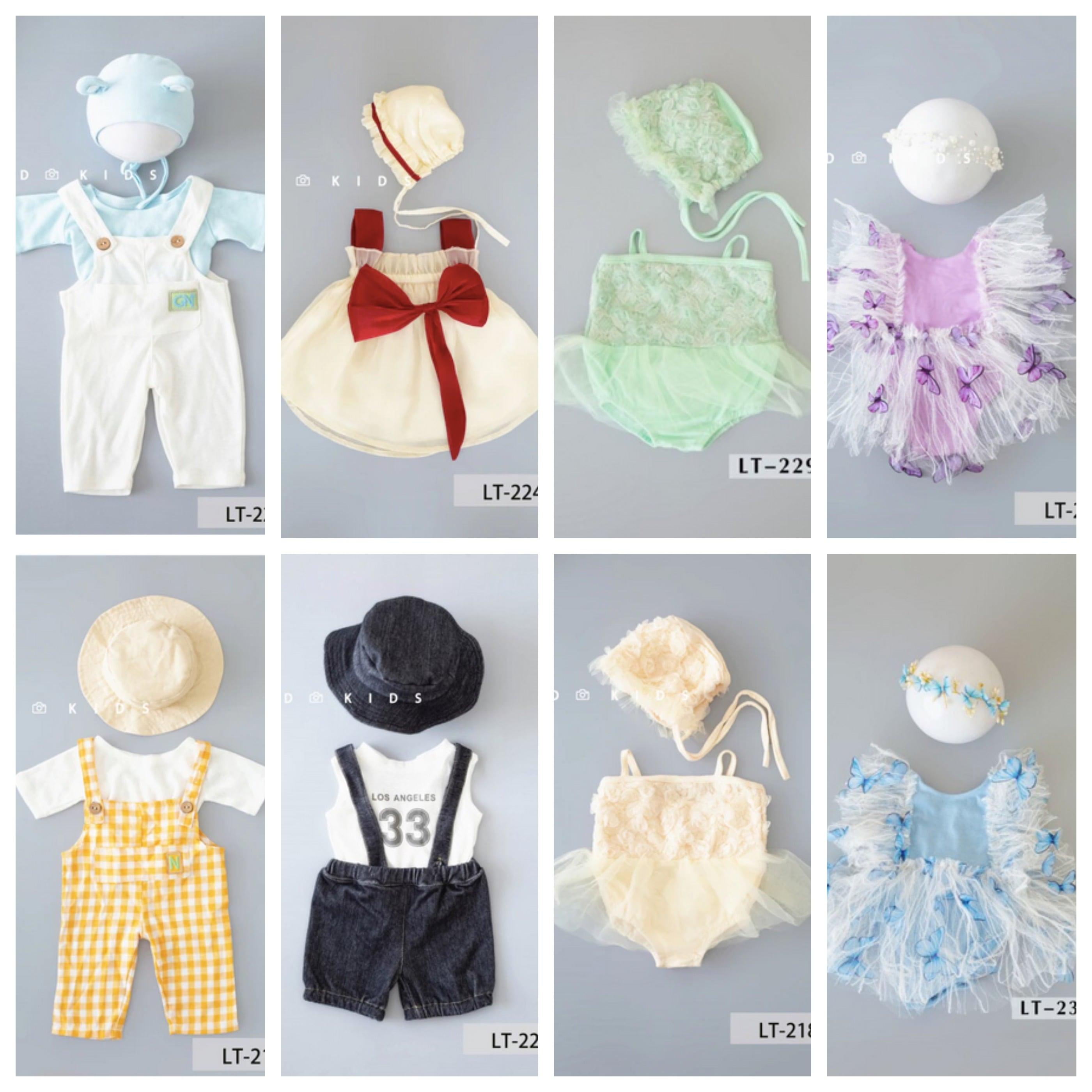 ニューボーンフォトサマー衣装8種