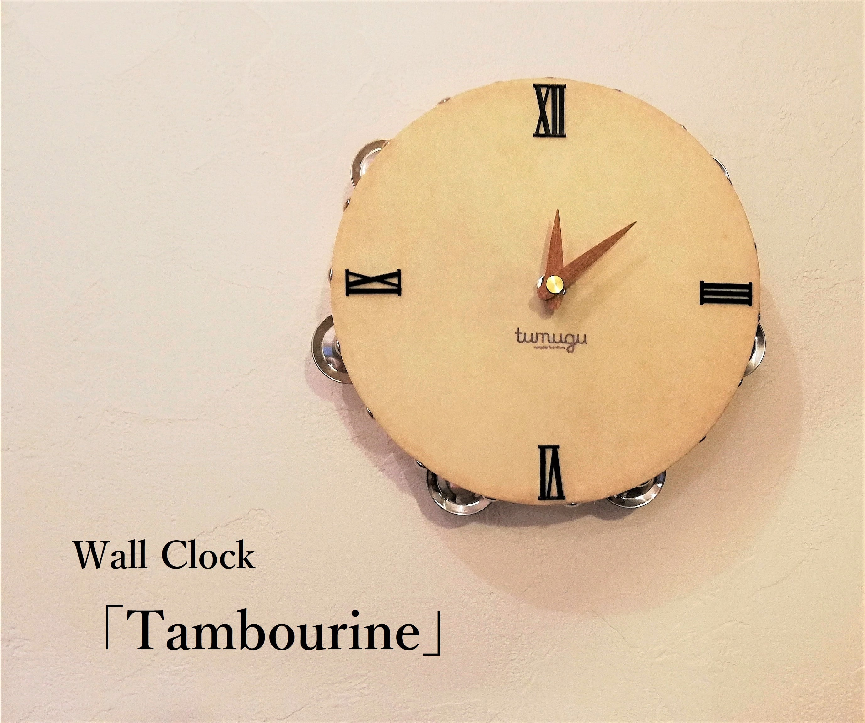 Wall clock 「Tambourine(チーク)」