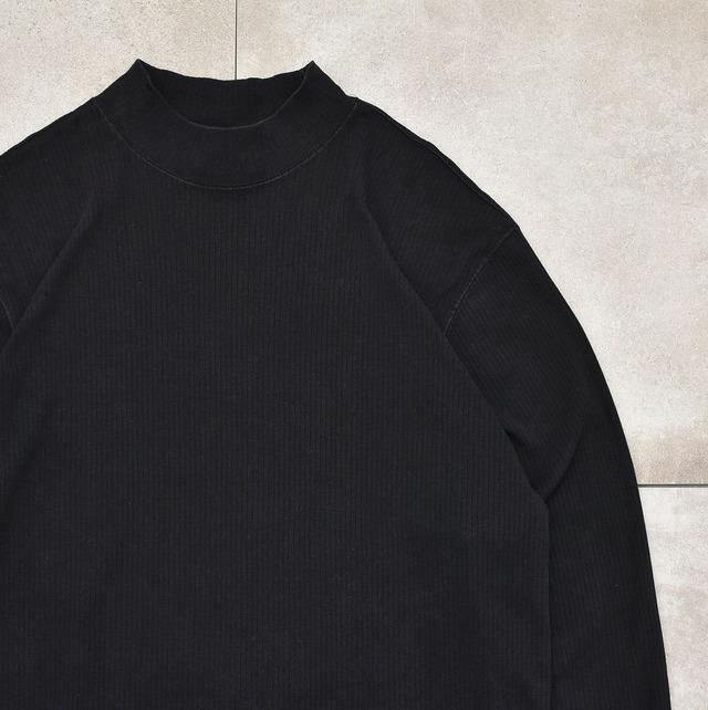 Club Room mock neck rib PO LS T-shirt