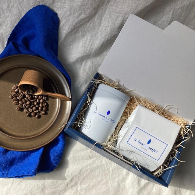 ギフトボックスS(ルブランスペシャルブレンド100g+コーヒーギフト缶)