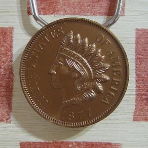 アメリカ RARE COIN SHOWRINGS 銀行ノベルティ ヴィンテージキーリング(インディアン ペニー)