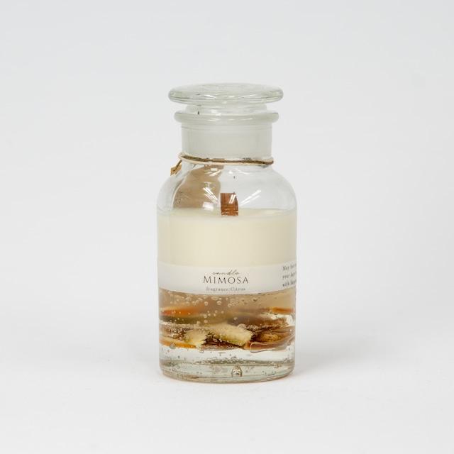 【candle Mimosa】ハーバリウムキャンドル:オレンジ