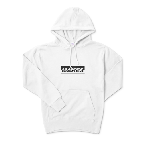 MAKESパーカー(ホワイト)10.0オンス