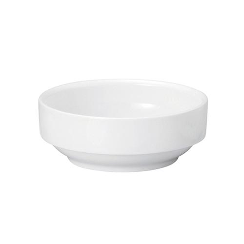 強化磁器 11.5cm すくいやすい食器  白無地【1712-0000】