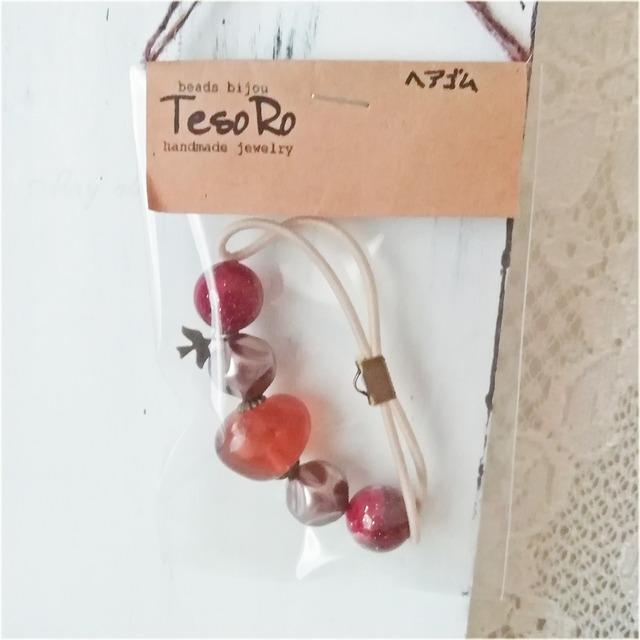 TesoRo:ヘアゴム  鳥(小さなチャーム) 手首に付けても可愛い♪