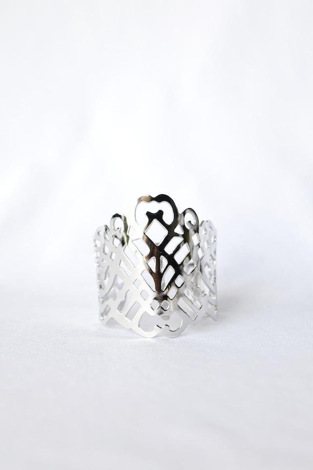 Handcrafted Hair Hook Arabesque - Lattice - ヘアフック -ラティス- Silver