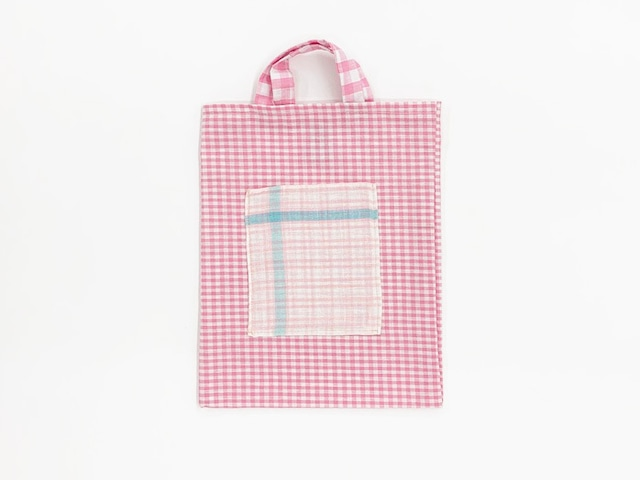 Small Pink Bag Check Fabric / Poetic Pastel