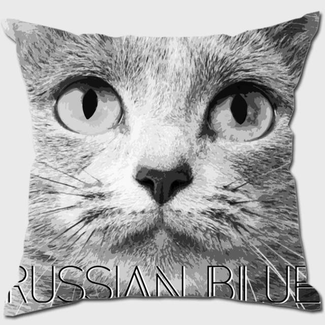 ロシアンブルー 【IMPACT -shirokuro- 猫 クッション】