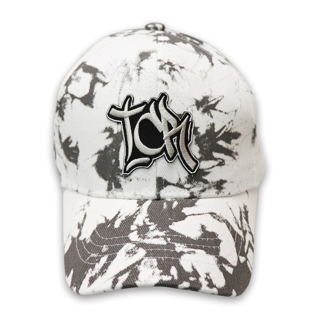 T.C.R EMBROIDERY TIE DYE CAP - WHITE / BLACK