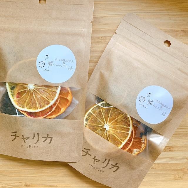 ドライフルーツブレンド茶  凍頂烏龍茶&みかんオレンジMIX