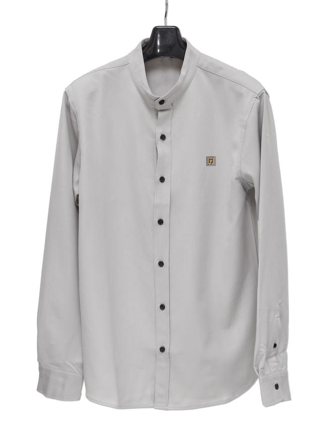 P-emblem Band Collar Shirts ライトグレー