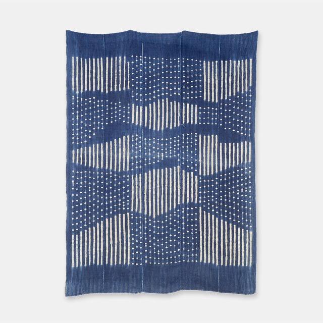 ブルキナファソ モシ族 ヴィンテージの藍染め布 絞り SL051